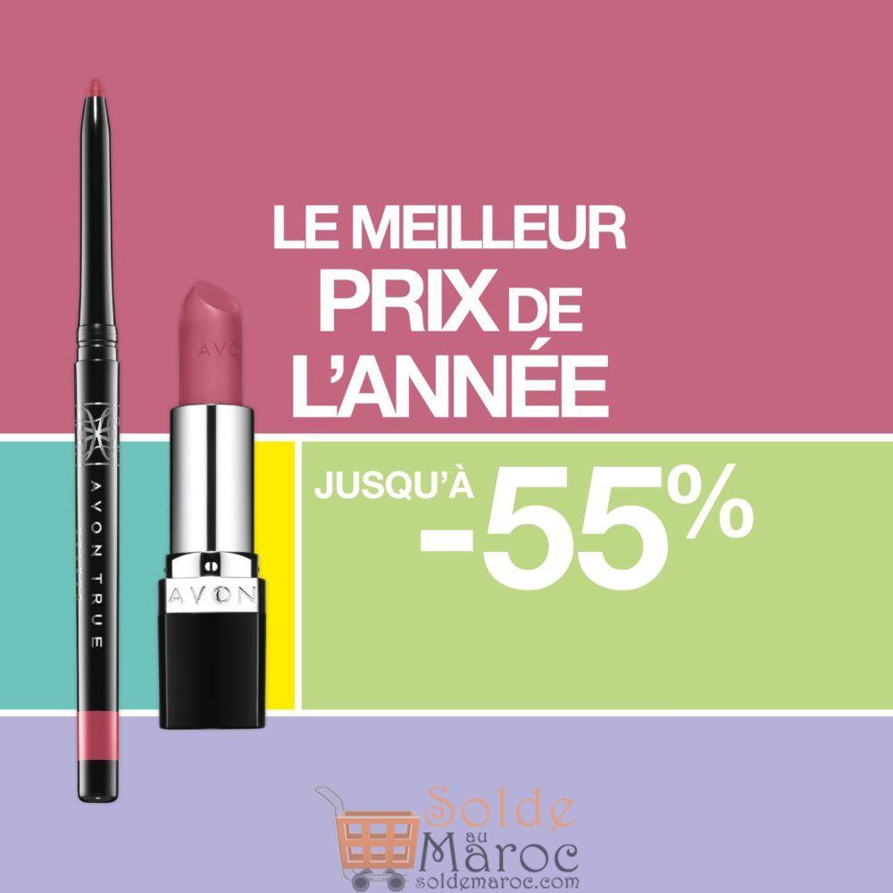 Promo Avon Maroc Jusqu'à -55% True Colour et son crayon contour des lèvres Glimmerstick