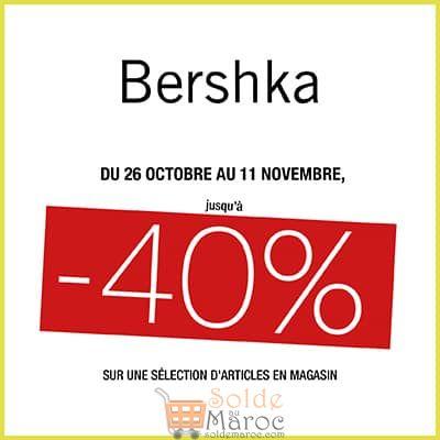 Promo Bershka Maroc -40% sur une sélection d'article jusqu'au 11 novembre 2018