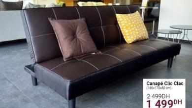 Promo Cozy Home Canapé Clic Clac 1499Dhs au lieu de 2499Dhs
