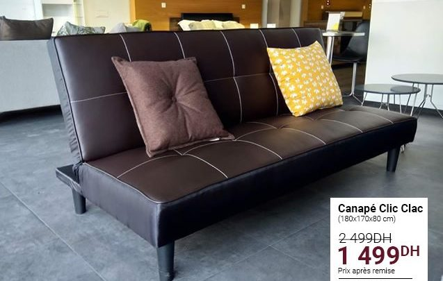 Photo of Promo Cozy Home Canapé Clic Clac 1499Dhs au lieu de 2499Dhs