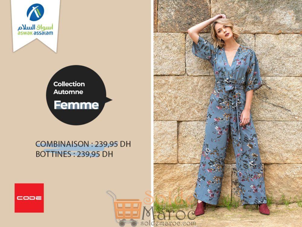 Collection Automne 2018 Femme CODE chez Aswak Assalam