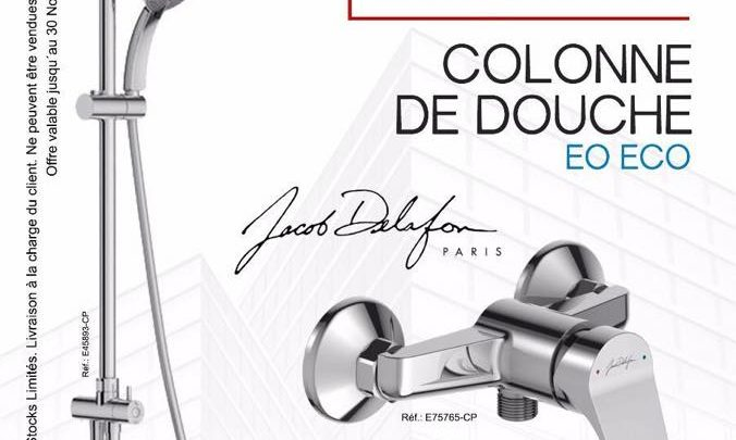 Best Deal Conquête Colonne Douche + Mitigeur de Jacob Delafon 2269Dhs au lieu de 3256Dhs