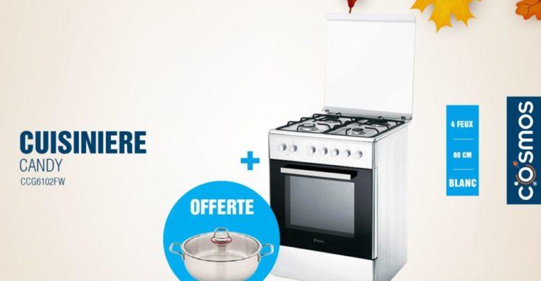 Photo of Promo Cosmos Electro Cuisinière CANDY 4 Feux Blanche 2899Dhs au lieu de 3699Dhs