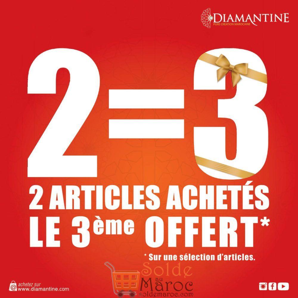 Promo Diamantine 2 Articles achetés le 3ème offert