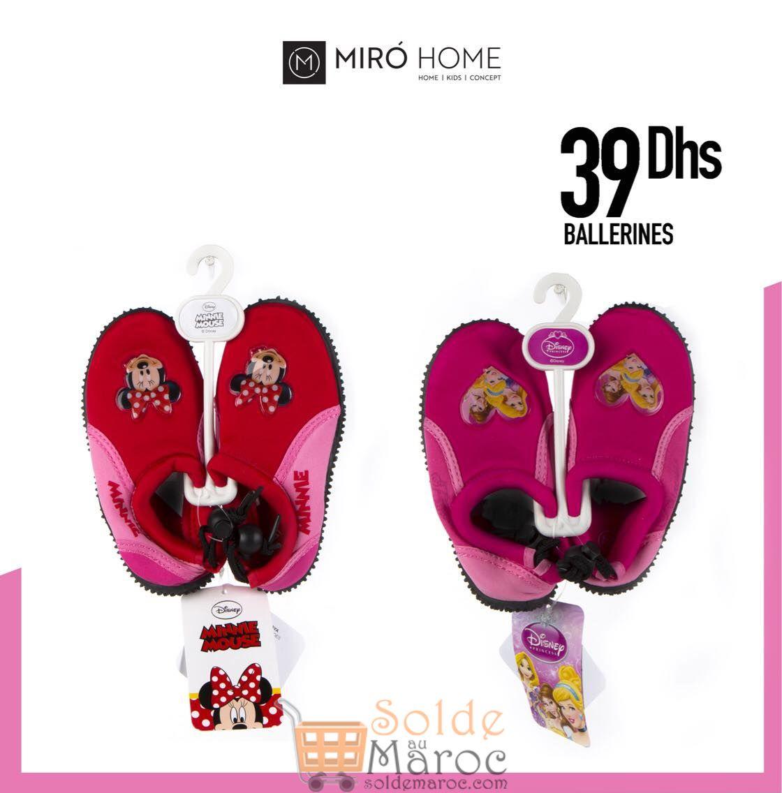 Nouveau chez MIRO Home Ballerines DISNEY 39Dhs