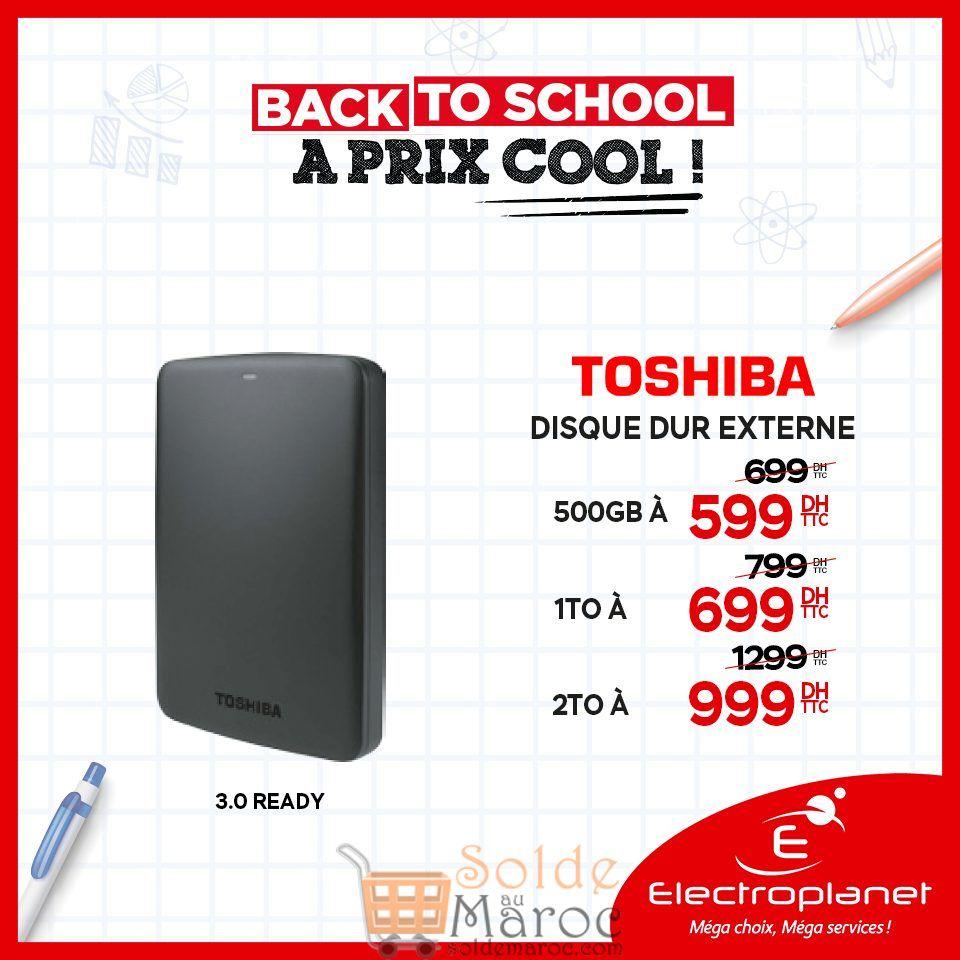 Promo Spéciale Electroplanet Disque dur externe Toshiba
