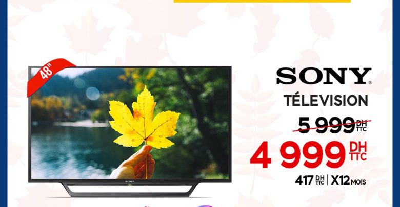 "Promo Electroplanet Smart TV Sony 48"" Full HD 4999Dhs au lieu de 5999Dhs"