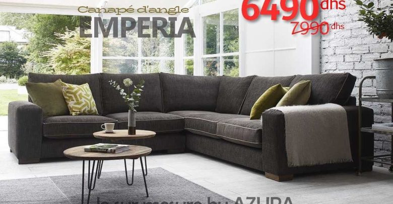 Photo of Vente Flash Azura Home CANAPÉ D'ANGLE EMPERIA 6490Dhs au lieu de 7990Dhs