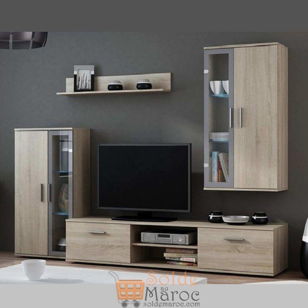 Promo Azura Home ENSEMBLE MEUBLE TV DARA 2950Dhs au lieu de 3290Dhs