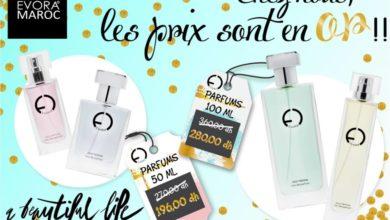 Prix en Or Parfums Evora Maroc Hommes et Femmes