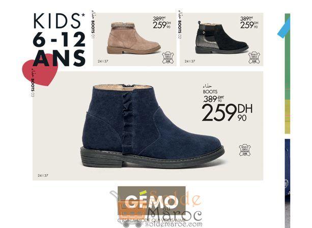 Promo Gémo Maroc Boots pour fille 259Dhs au lieu de 389Dhs