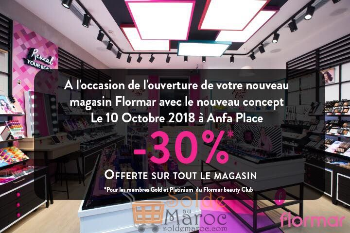 Ouverture magasin Flormar Anfa Place -30% pour les membres