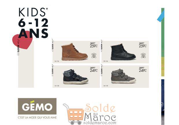 Promo Gémo Maroc Boots pour Garçon à partir de 249Dhs au lieu de 389Dhs