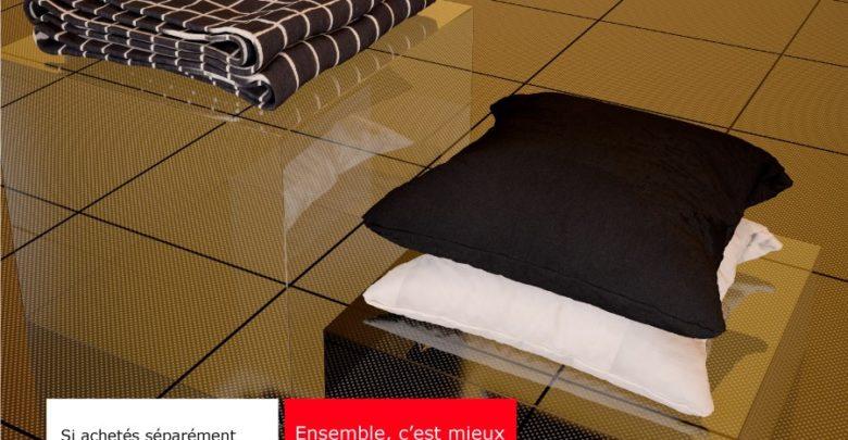 Promo Ikea Maroc Housse de coussin + Plaid 399Dhs au lieu de 520Dhs