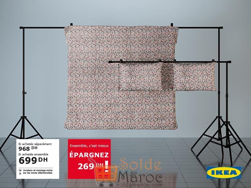 Soldes Ikea Maroc Housse de couette + 2 taies d'oreillers SMÅSTARR 699Dhs au lieu de 968Dhs
