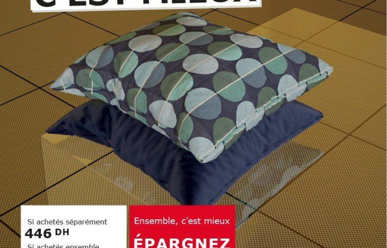 Soldes Ikea Maroc Housse de coussin 349Dhs au lieu de 446Dhs