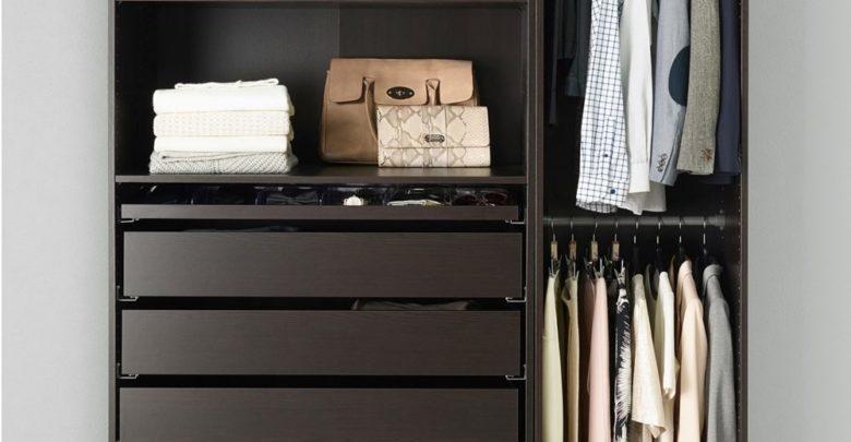 Soldes Ikea Maroc Penderie PAX noir-brun 4370Dhs au lieu de 4955Dhs