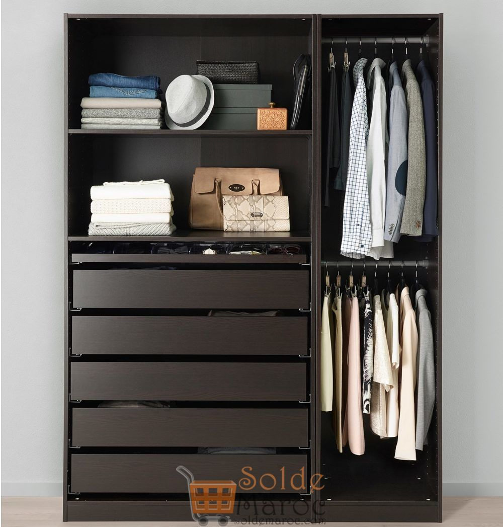 soldes ikea maroc penderie pax noir brun 4370dhs au lieu. Black Bedroom Furniture Sets. Home Design Ideas
