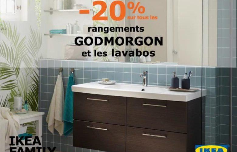 Promo Ikea Family Maroc -20% sur tous les rangements GODMORGON et lababos