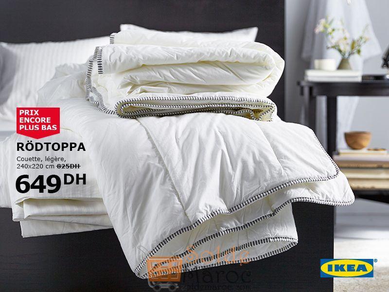 Soldes Ikea Maroc Couette légère RODTOPPA 649Dhs au lieu de 825Dhs