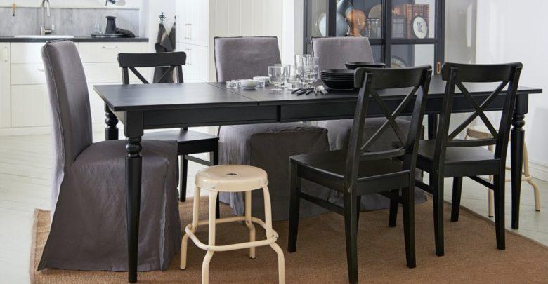 Soldes Ikea Maroc Table extensible INGATORP noir 3795Dhs au lieu de 4695Dhs