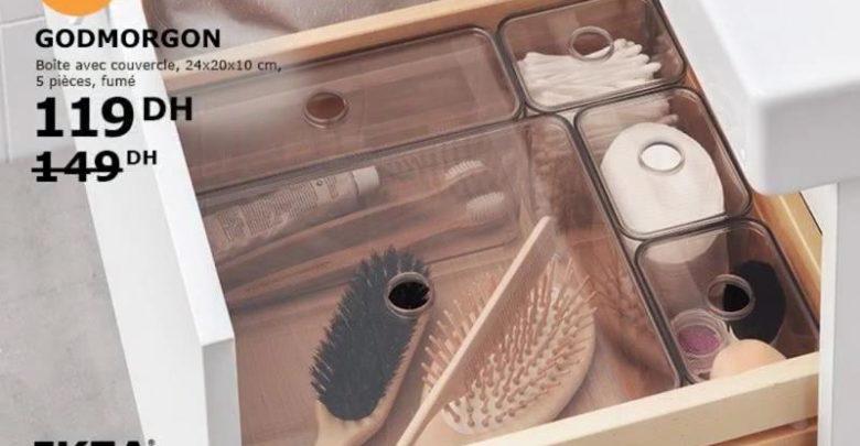 Photo of Promo Ikea Family Maroc Armoire salle de bain 6 tiroirs 2120Dhs au lieu de 2650Dhs