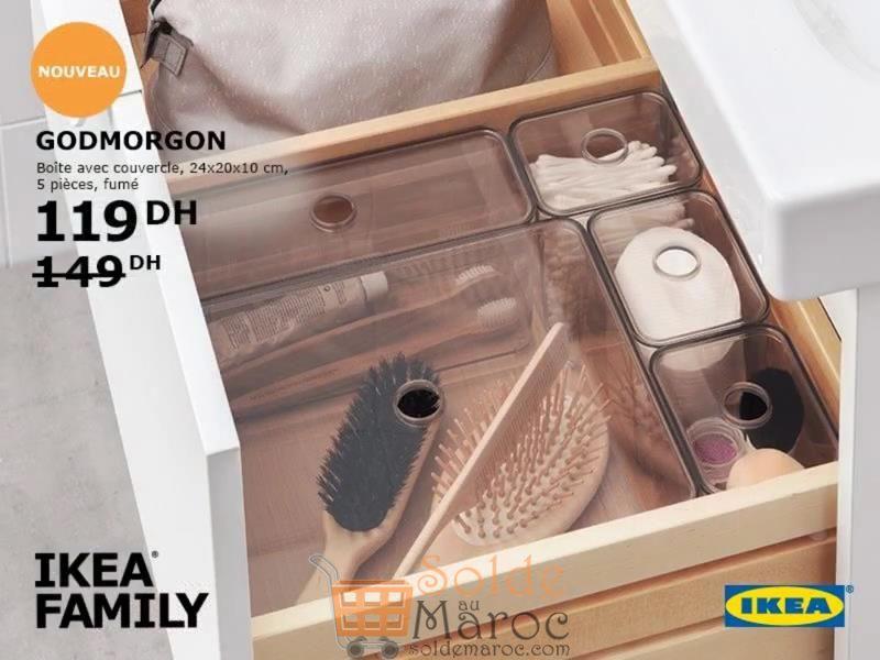 Promo Ikea Family Maroc Boite avec couvercle 5 pièces fumé 119Dhs au lieu de 149Dhs
