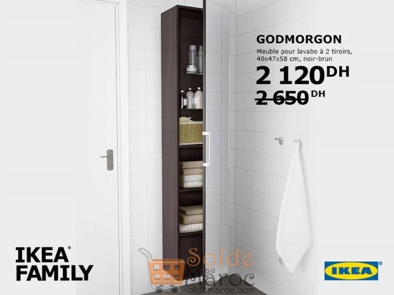 Promo Ikea Family Maroc Armoire salle de bain 6 tiroirs 2120Dhs au lieu de 2650Dhs