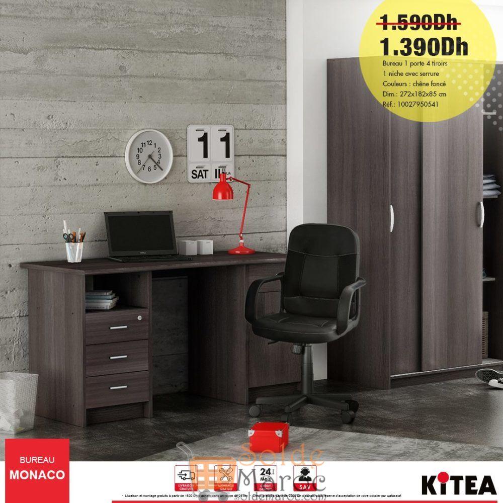 Promo Kitea Bureau MONACO 1390Dhs au lieu de 1590Dhs