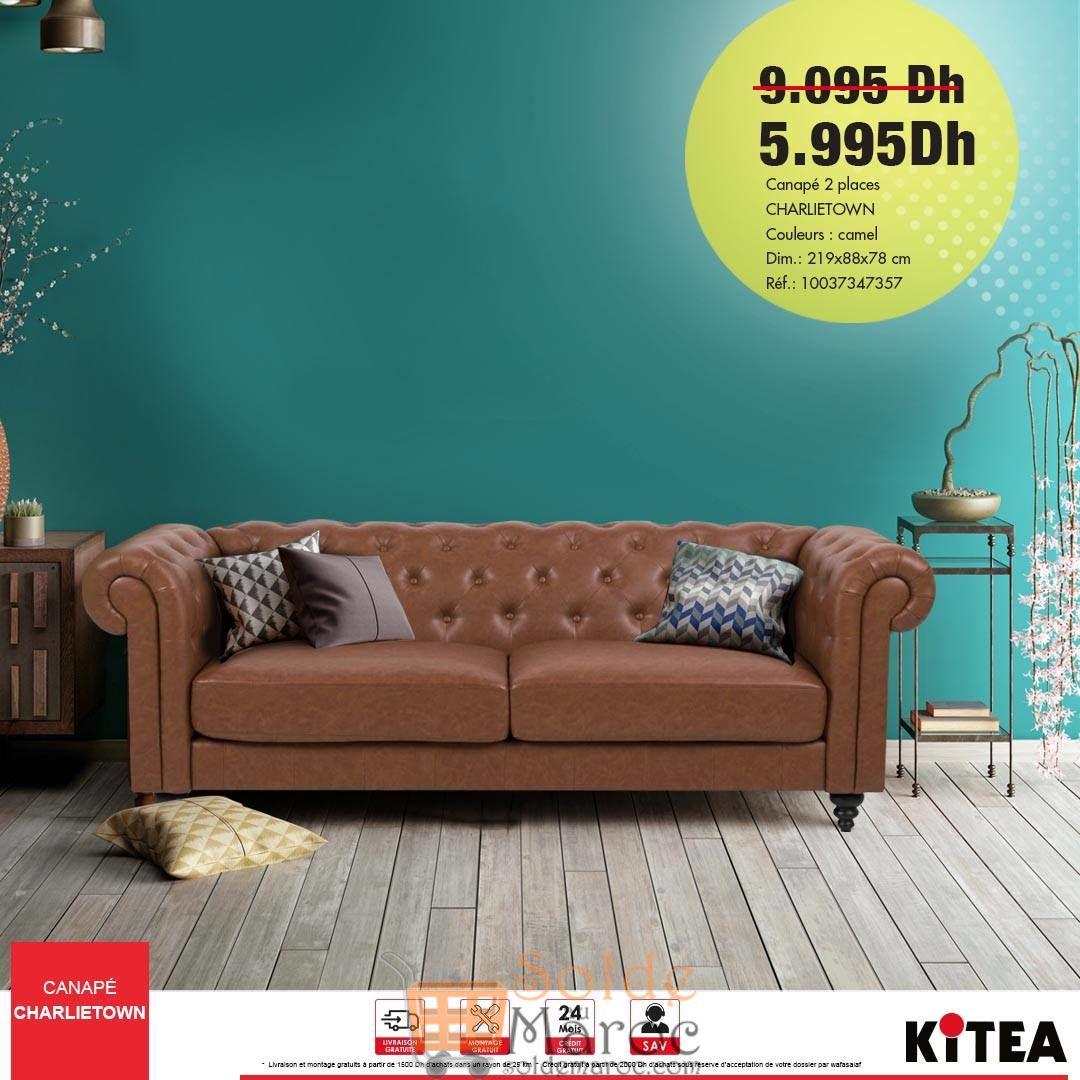 Promo Kitea Canapé 2 places CHARLIETOWN 5995Dhs au lieu de 9095Dhs