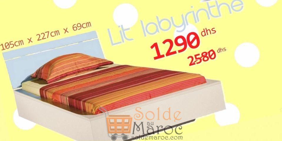 Soldes Azura Home Lit Labyrinthe pour enfant jeune 1290Dhs au lieu de 2580Dhs