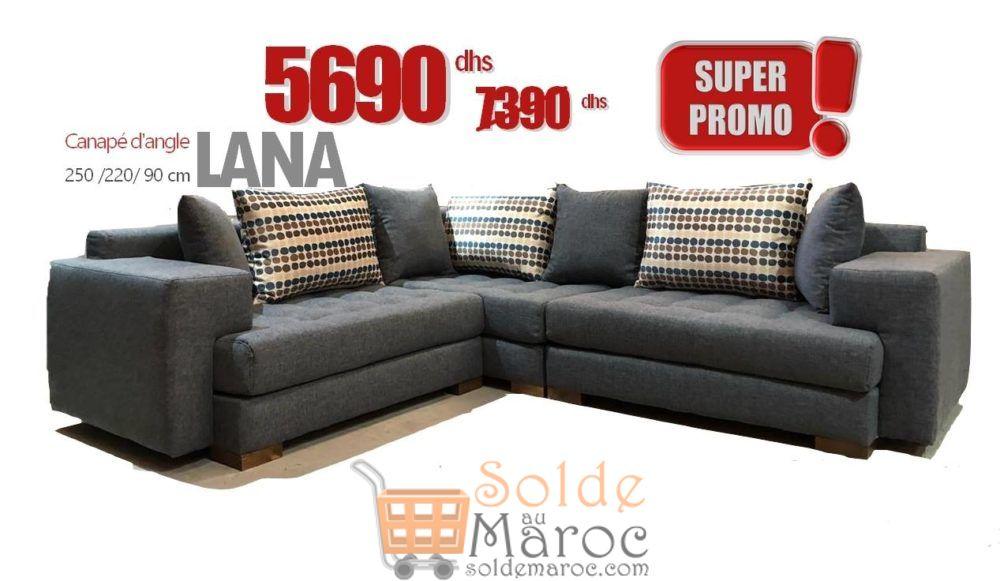 Promo Azura Home CANAPÉ D'ANGLE LANA 5690Dhs au lieu de 7333Dhs