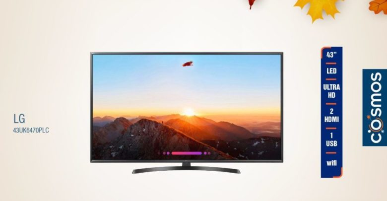 Photo of Promo Cosmos Electro Smart TV 43° LG 5599Dhs au lieu de 5990Dhs