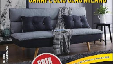 Promo Cozy Home Canapé CLIC CLAC MILANO 2850Dhs au lieu de 4700Dhs