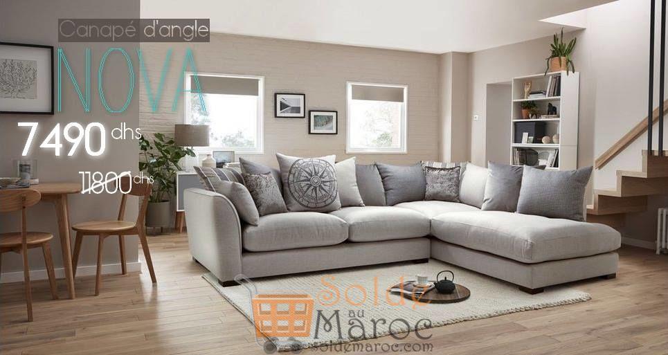 Promo Azura Home CANAPÉ D'ANGLE NOVA 7490Dhs au lieu de 11800Dhs