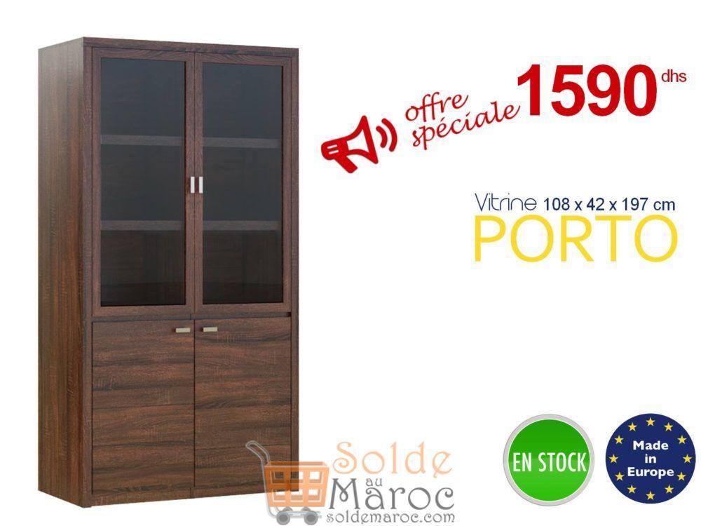 Promo Azura Home VITRINE PORTO 197X108 CM 1590Dhs au lieu de 2540Dhs