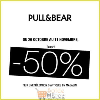Promo Pull & Bear Maroc -50% sur une sélection d'article jusqu'au 11 Novembre 2018