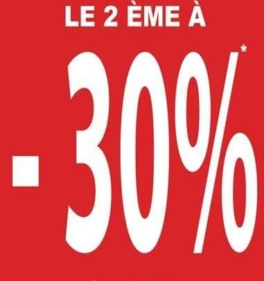 Promo Shana Maroc -30% sur le 2ème articles acheté