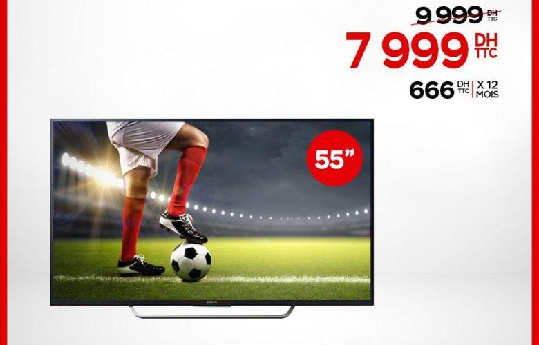 """Promo Electroplanet Sony Smart TV 4K 55"""" 7999Dhs au lieu de 9999Dhs"""
