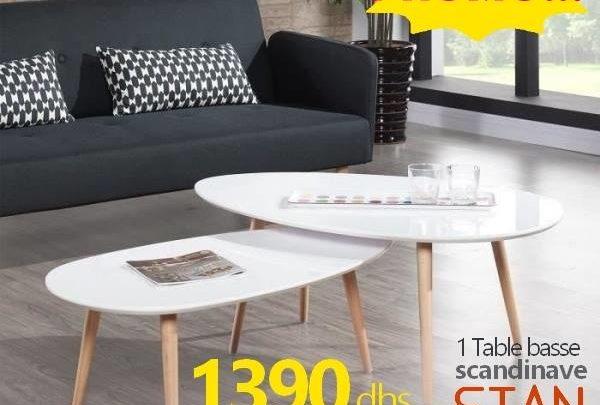 Photo of Soldes Azura Home Table basse scandinave STAN 1390Dhs au lieu de 2190Dhs