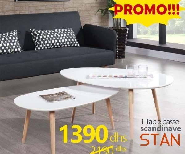 Soldes Azura Home Table basse scandinave STAN 1390Dhs au lieu de 2190Dhs