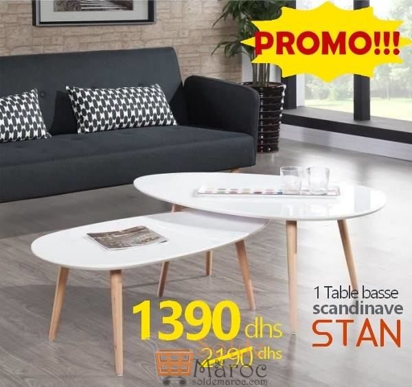 Soldes Azura Home Table basse scandinave STAN 1390Dhs au lieu de 2190Dhs