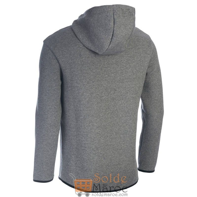 Soldes Decathlon Sweat-shirt 560 Gym & Pilates homme capuche gris 199Dhs au lieu de 229Dhs