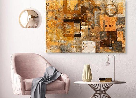 Photo of Promo Massinart Tableau décoratif Abstract L100 x H60cm Premium 249Dhs au lieu de 499Dhs