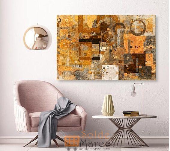 Promo Massinart Tableau décoratif Abstract L100 x H60cm Premium 249Dhs au lieu de 499Dhs