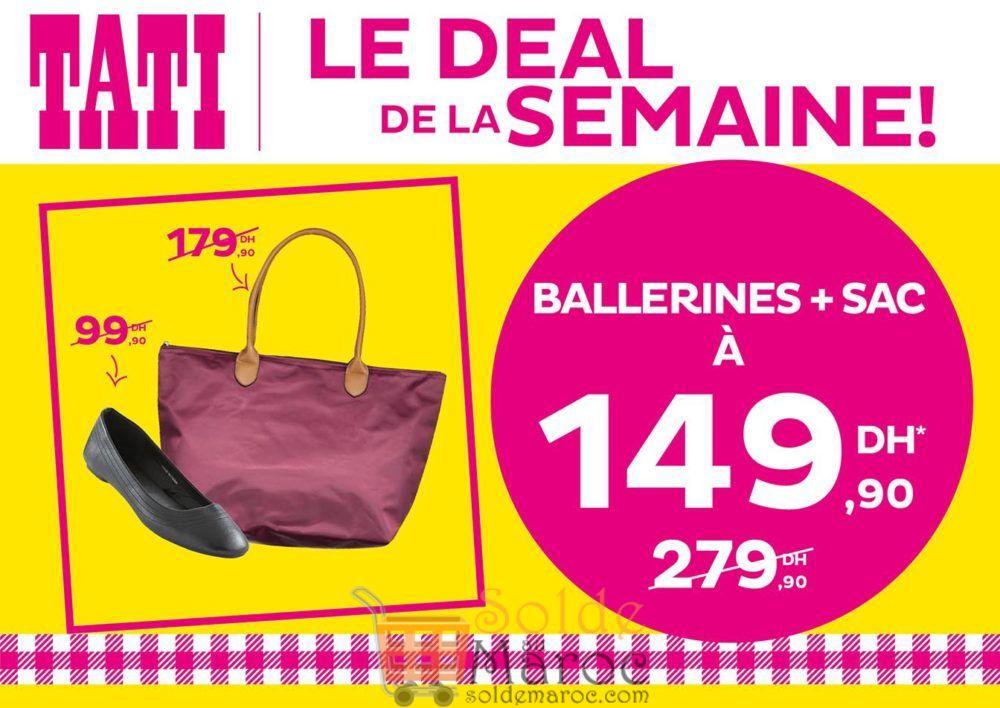 Deal de la semaine Tati Maroc Ballerines + Sac 149Dhs au lieu de 279Dhs
