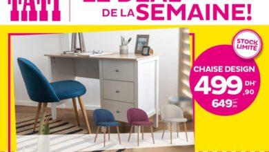 Deal de la semaine Tati Maroc Chaise Design 499Dhs au lieu de 649Dhs