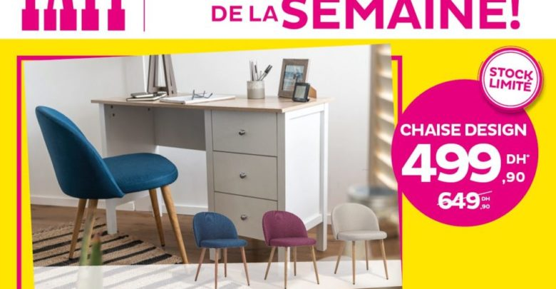 Photo of Deal de la semaine Tati Maroc Chaise Design 499Dhs au lieu de 649Dhs