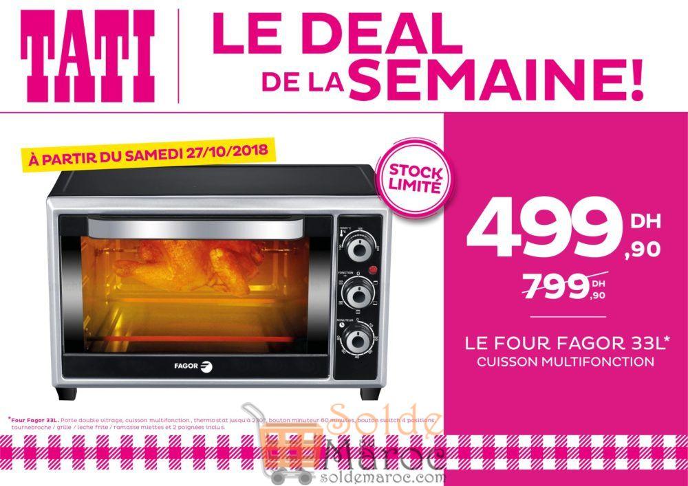 Deal de la semaine Tati Maroc Four FAGOR 33L 499Dhs au lieu de 799Dhs