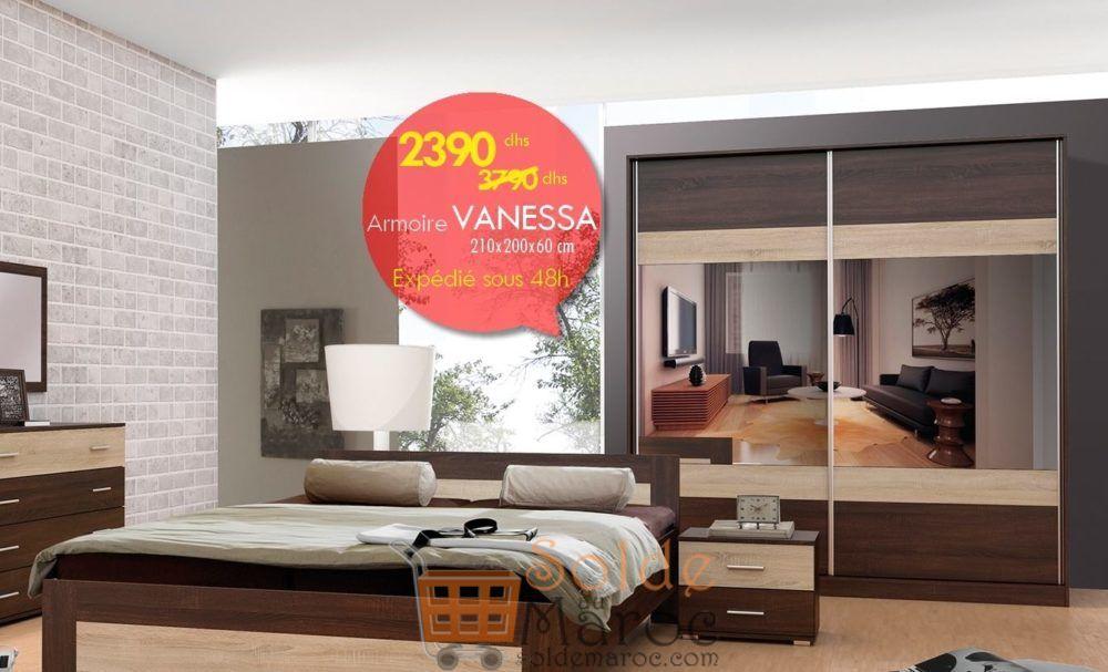 Promo Azura Home ARMOIRE VANESSA 2390Dhs au lieu de 6890Dhs